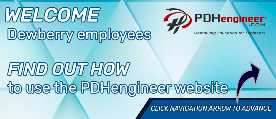 Dewberry Employees learn how to use PDHengineer website